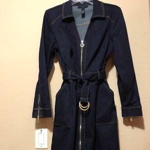 Blue INC Denim long sleeve jean dress